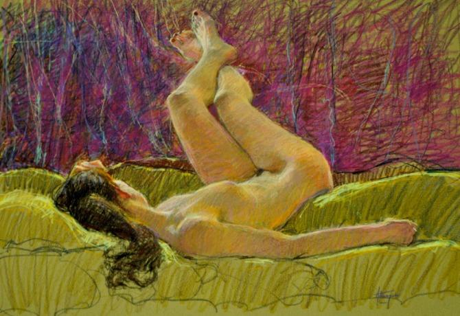 Watercolor Pencil on Paper $2000 jarchote@gmail.com